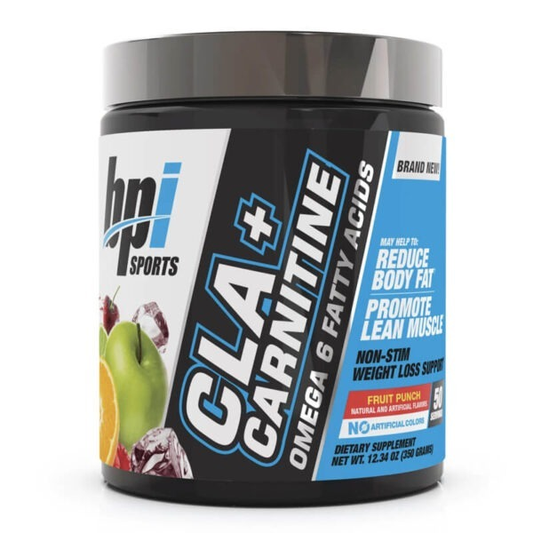 BPI Sports CLA+Carnitine 50 Servings Fruit Punch in Pakistan